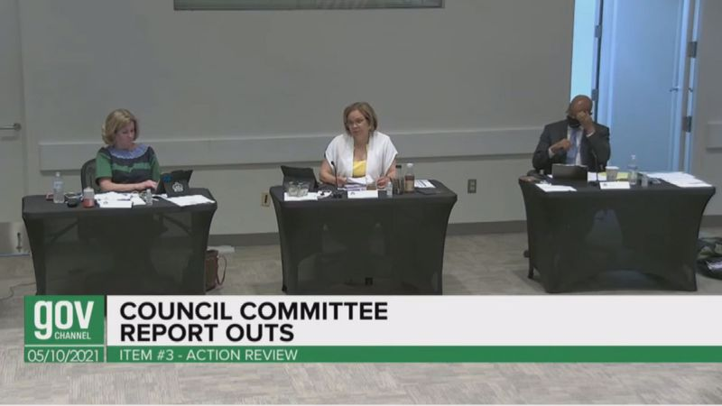 Charlotte Mayor Vi Lyles makes a speech to councilmembers to come together to adopt the 2040...
