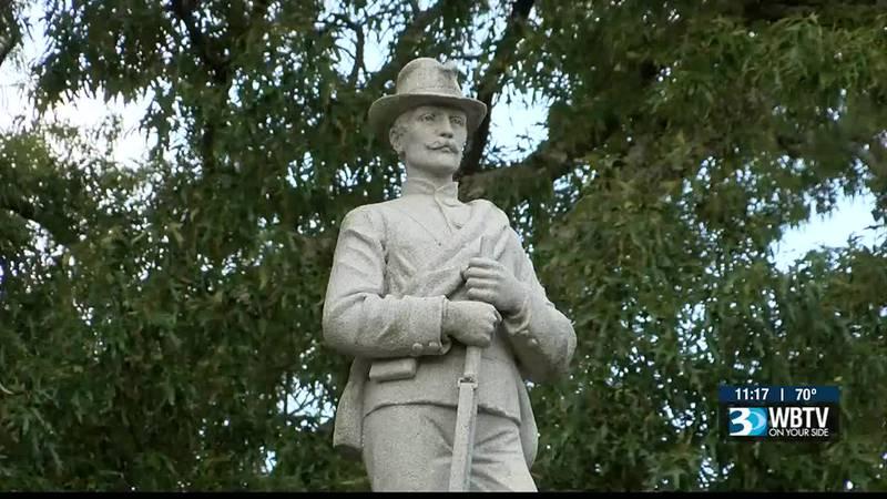 Protesters call for Confederate statue's removal in Cornelius