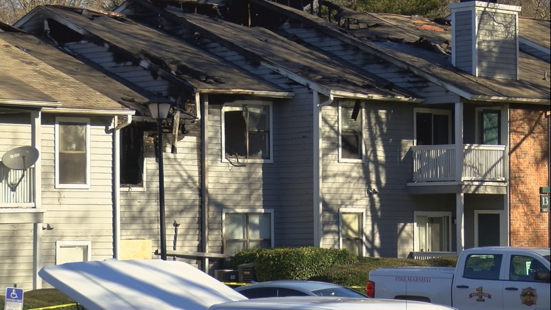 Nearly 40 people are out of their homes after a fire ripped through the Paces River Apartments...