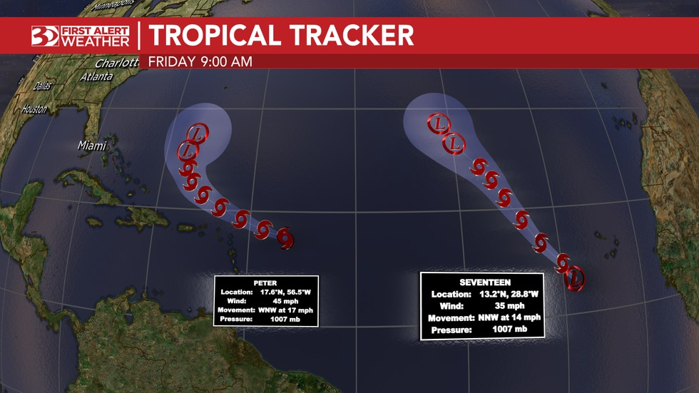 Tracking two systems in the Atlantic