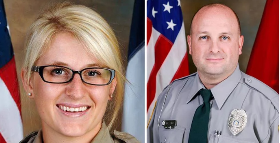 Gaston County Sheriff's Corporal Katelyn Self and her brother Gaston County Police Officer Josh...