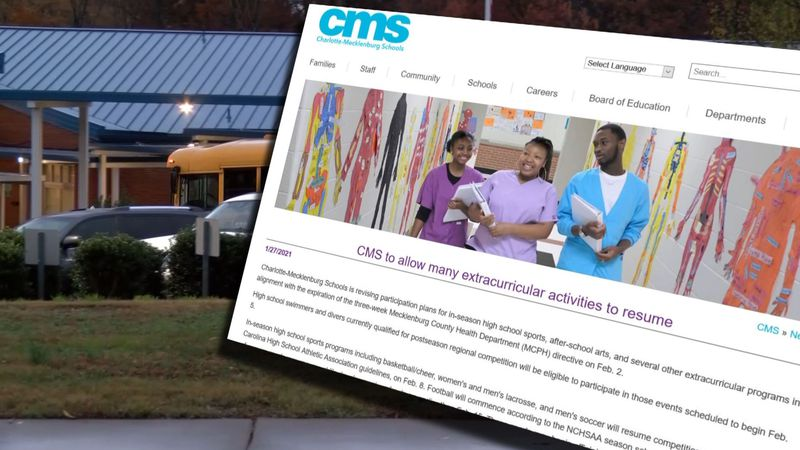 CMS to allow some extracurricular activities to resume, the district announced Wednesday.