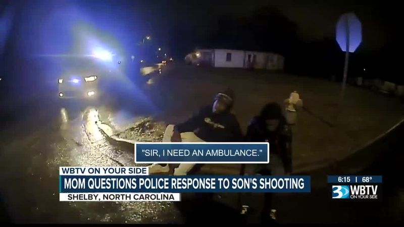 Mom questions police response to son's shooting