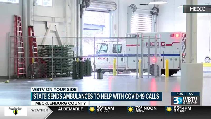 Mecklenburg County is getting five new ambulances to help with emergency calls after a request...