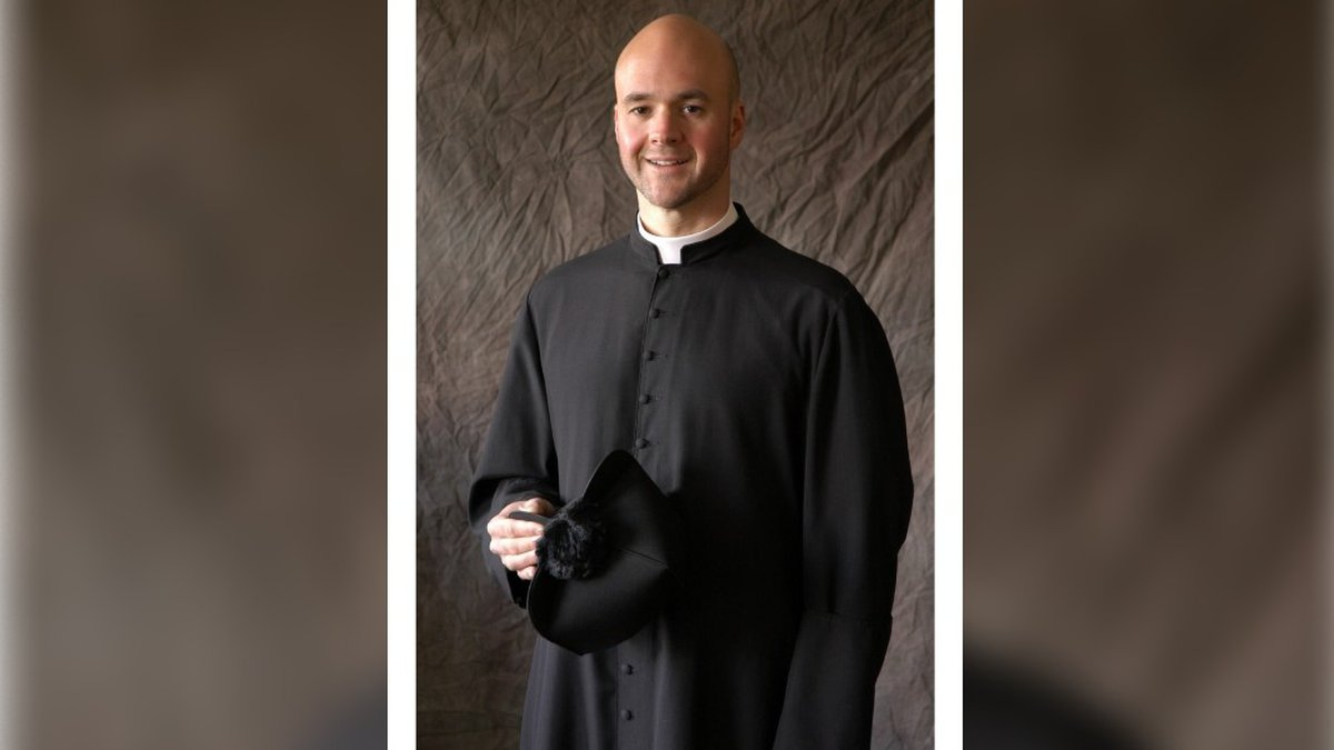 The church is asking for prayers of comfort and peace for the priest and his family at this...