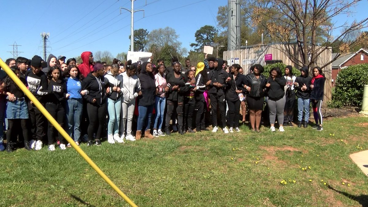 According to Principal Melody Sears, the students made a decision to participate in the walkout...