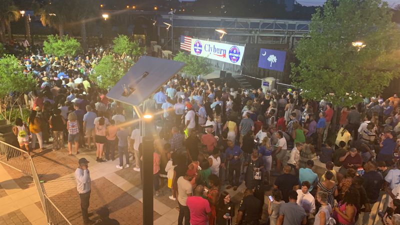 Several people from all over the Palmetto State made their way to Coble Plaza to attend the...