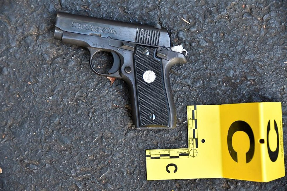 A photo of the gun police said was recovered at the scene. (Charlotte-Mecklenburg Police)