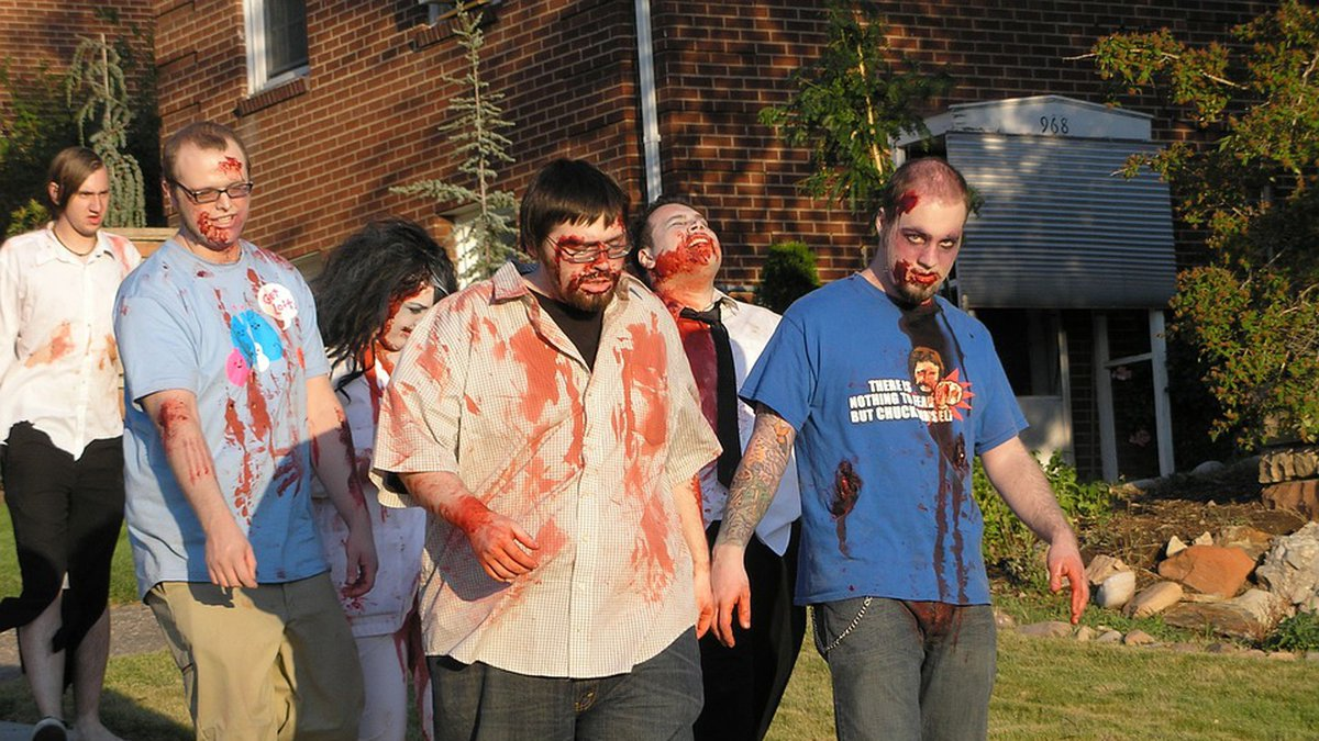 """A """"Zombie Survival"""" event in North Carolina is in need of volunteers willing to """"chase humans""""..."""