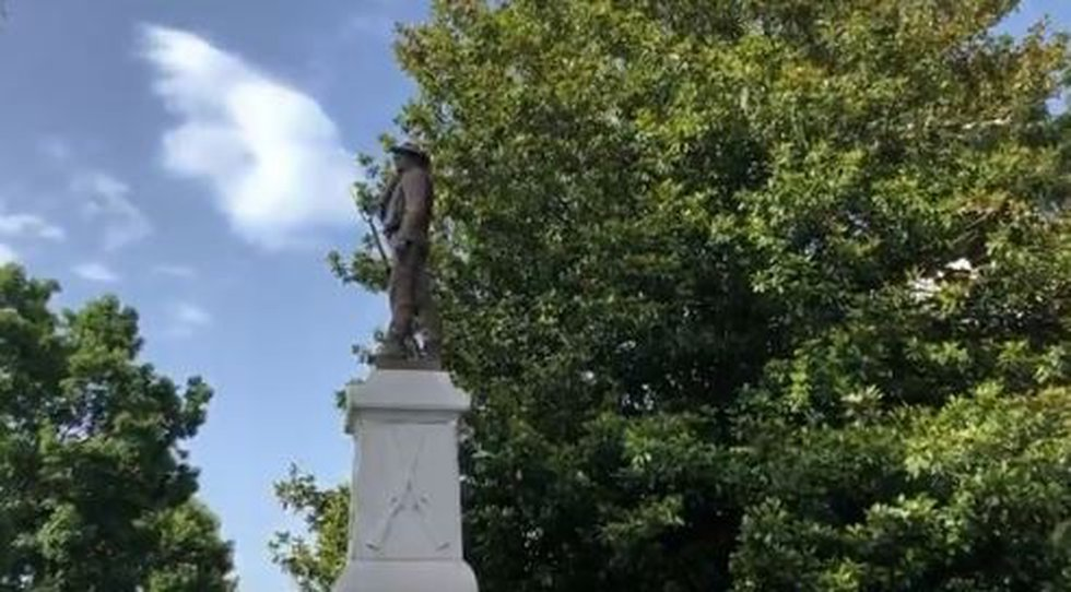 Armed protesters gather in support of Morganton Confederate statue