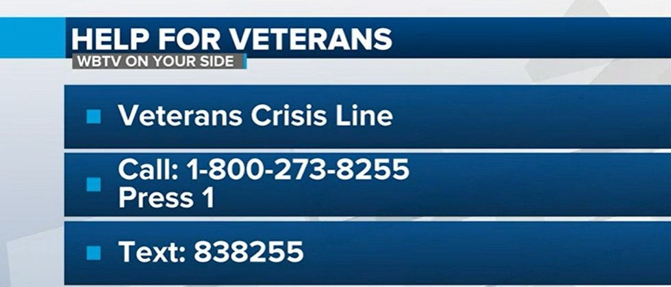 There are resources available for veterans who are struggling.