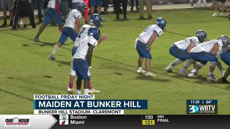 In a battle for first in the Catawba Valley 2A, Maiden beats Bunker Hill.  The Blue Devils are...