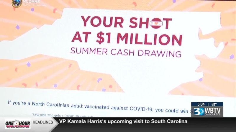 N.C. giving $1 million to four residents who get vaccinated
