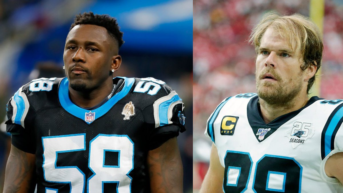 Linebacker Thomas Davis and tight end Greg Olsen are signing one-day contracts to retire as...