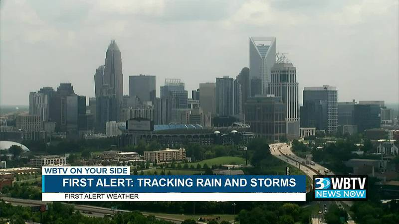 WBTV News Now: First Alert in effect for showers, strong storms Monday and Tuesday