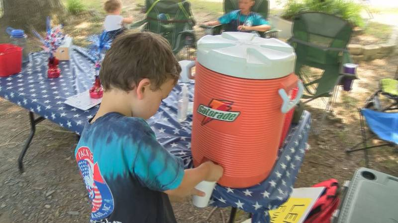 Family in Indian Trail sells lemonade to raise money for Gold Star families