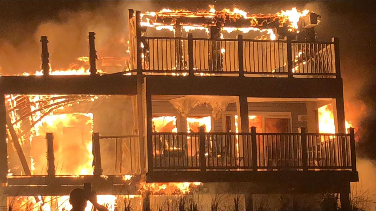 Multiple fire crews battled a large fire at the Ocean Crest Motel Sunday night into Monday...