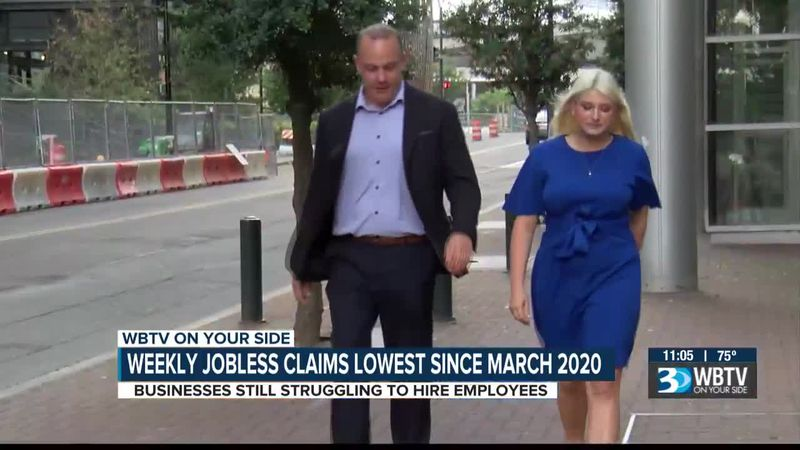 Weekly jobless claims lowest since March 2020