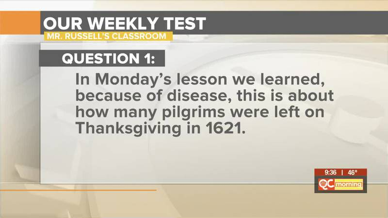 Mr. Russell's Classroom: Take a quiz on Thanksgiving and Engineering