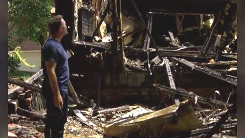 A dad and his two kids in Weddington were able to escape their home before a fire, started by...