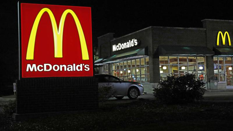 This photo shows a McDonald's restaurant in Ridgeland, Miss., Wednesday, Feb. 14, 2018....