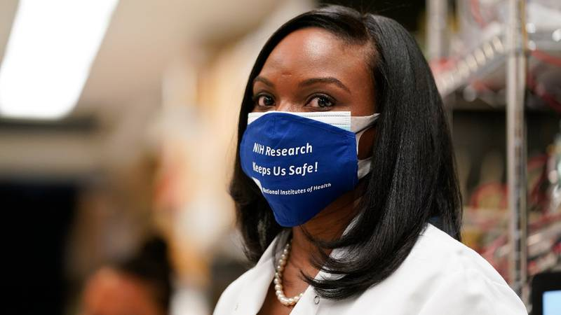 Kizzmekia Corbett, an immunologist with the Vaccine Research Center at the National Institutes...