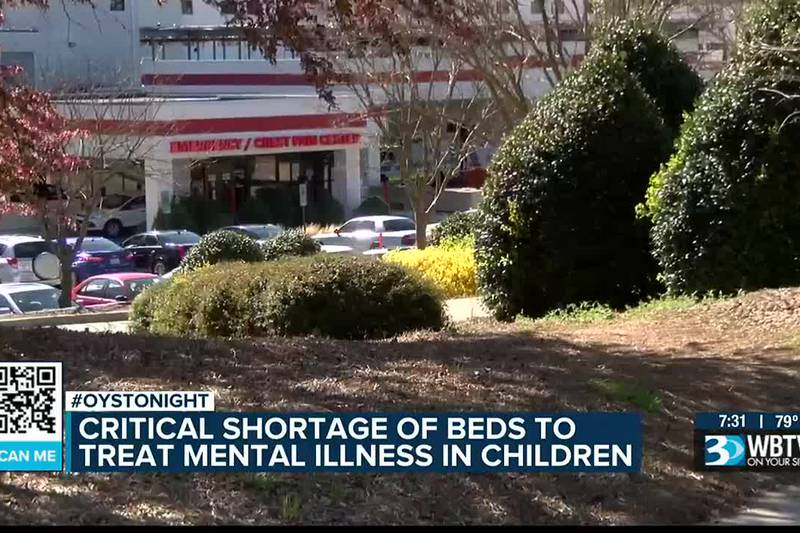 Critical shortage of mental health beds for children causing concerns throughout the Carolinas....