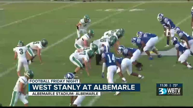 In a big Stanly County rivalry game, West Stanly got the best of Albemarle 34-14.