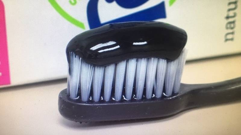 Charcoal toothpaste.