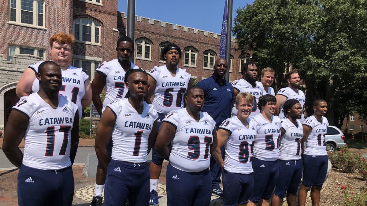 Players posed in front of the administration building prior to the start of the season.