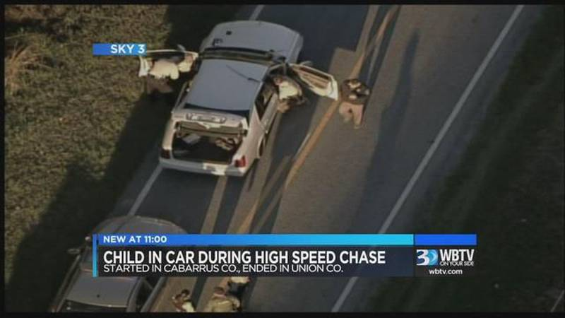 Multi-county high speed chase with child in car