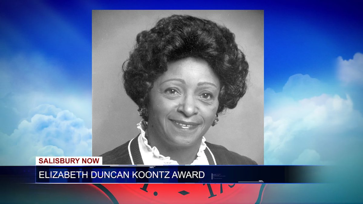 Elizabeth Duncan Koontz, a Salisbury native, was the first African-American president of the...