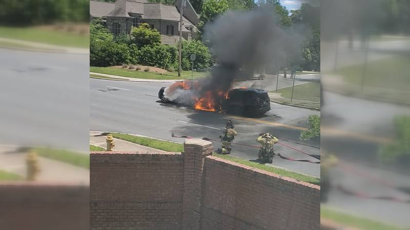 South Charlotte resident Curtis Watkins recorded video of the aftermath of a fiery crash...