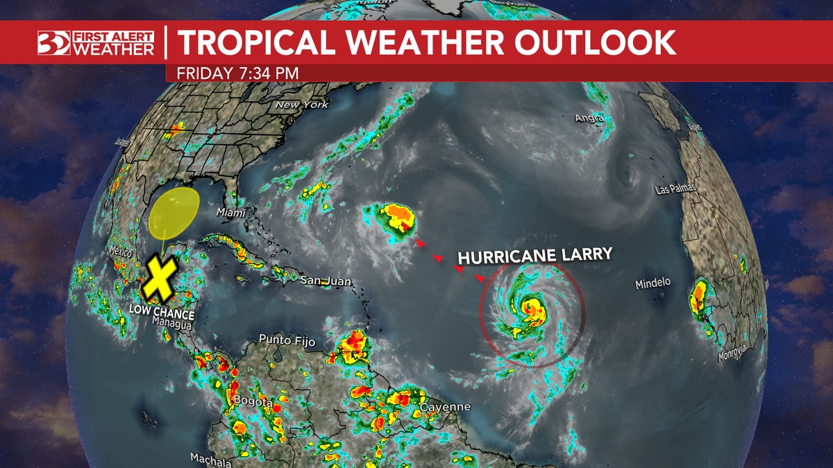 Larry is expected to strengthen into a category 4 hurricane later this weekend, with forecasted...