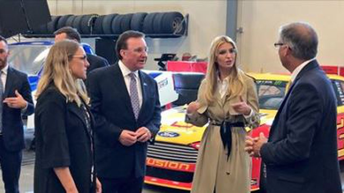 Ivanka Trump stops by NASCAR Technical Institute in Mooresville