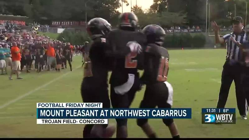 Big win for Northwest Cabarrus as they gave Mount Pleasant their first loss of the season.