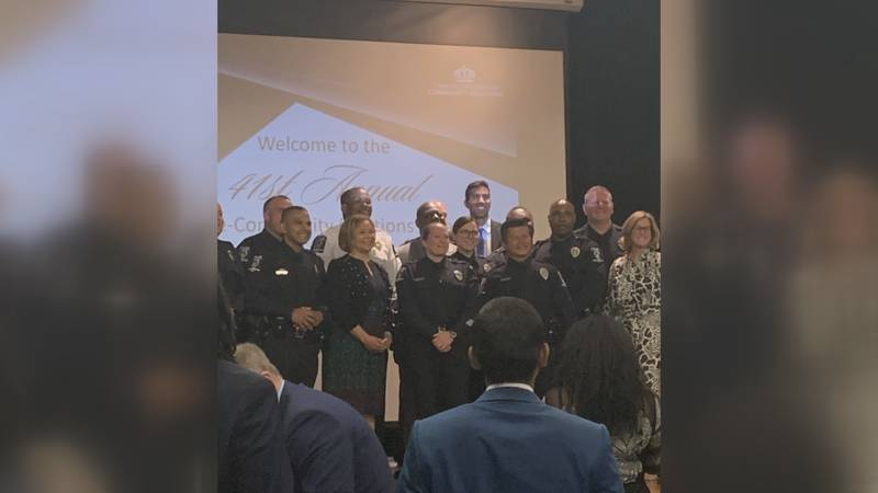 A few dozen people gathered for the 41st Annual Police Community Relations Awards Friday night.