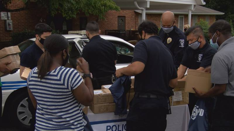 Charlotte Mecklenberg Police officers are giving 800 gun locks away for free to relaunch a...