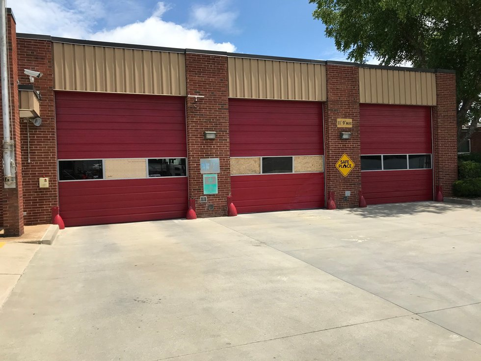 A shooting victim crashed into Charlotte Fire Department's Station 11 Saturday morning.