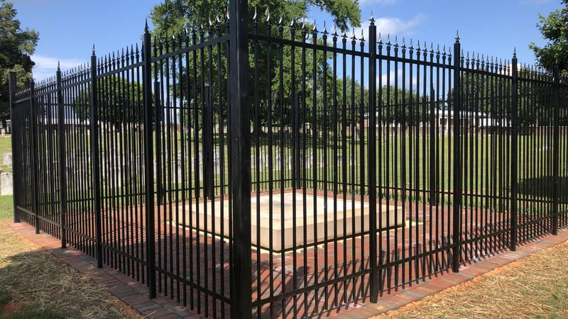 Fame will be placed on this base at the Old Lutheran Cemetery on N. Lee St.