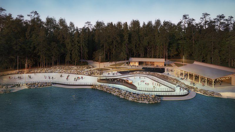 The Whitewater Center will feature a 17,000 square-foot ice skating rink.