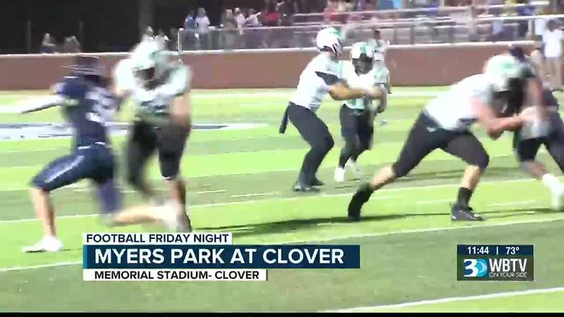 Myers Park would pick up a bounce back win on Friday with a victory over Clover 35-13.