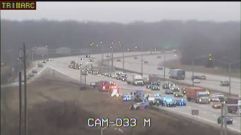 Officers pursued the vehicle until the driver crashed on I-65 near Outer Loop.