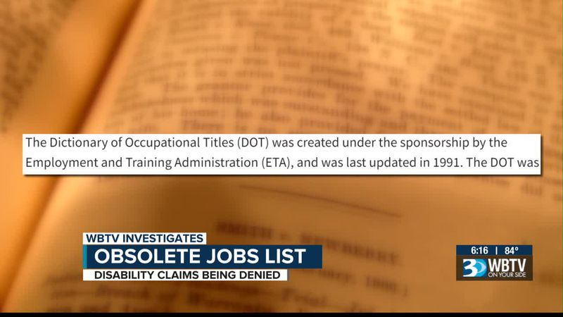 Disability claims being denied over obsolete jobs list