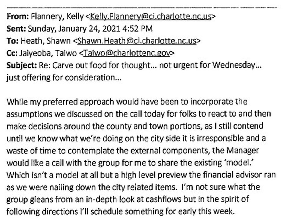 An email from Chief Financial Officer Kelly Flannery shows her frustrated with the approach...