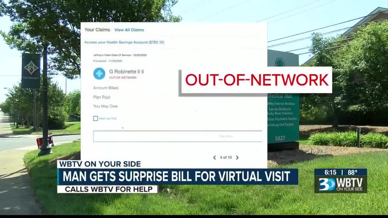 Man calls WBTV for help after getting surprise bill for virtual visit