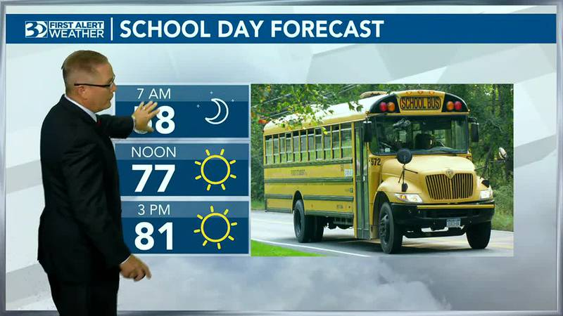 Bus Stop Forecast a cool start to the day