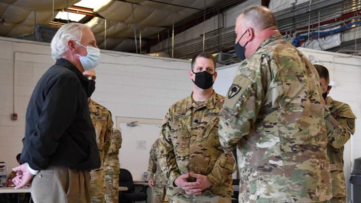 Gov. Henry McMaster met with members of the 2-151st Aviation Regiment of the South Carolina...