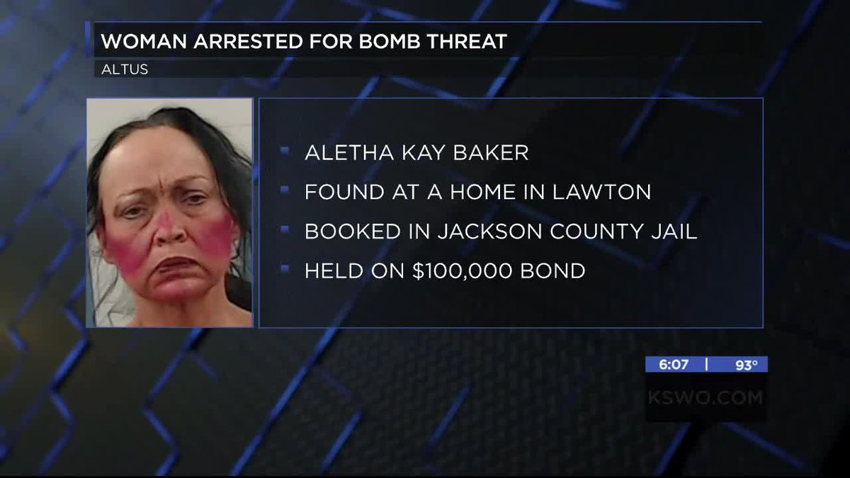 Altus police have made an arrest in connection to a bomb threat on Thursday at a local car...