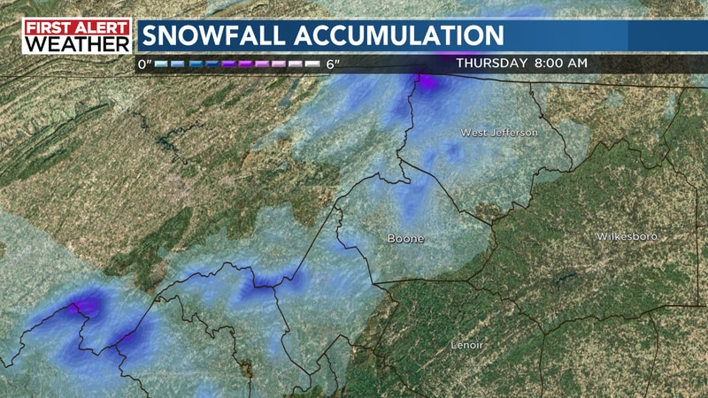 Rain will change over to snow overnight across the mountains dropping an inch or so in many...